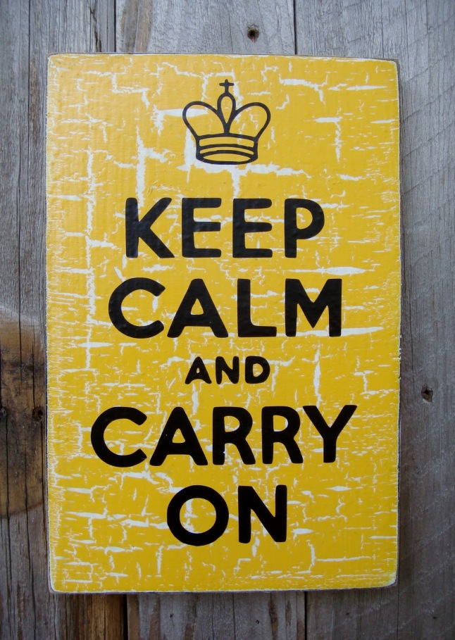 keep calm and carry on yellow